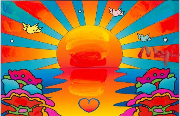 Sunset Peter Max Pinterest Sunsets Peter Max Art