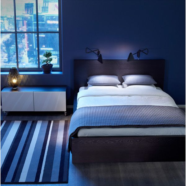 Ikea Malm Bed Frame Black Brown Black Brown Small Bedroom Ideas For Couples Blue Bedroom Walls Small Bedroom
