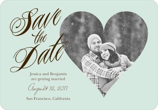 Wedding Paper Divas Elegant Heart Save the Date Magnets