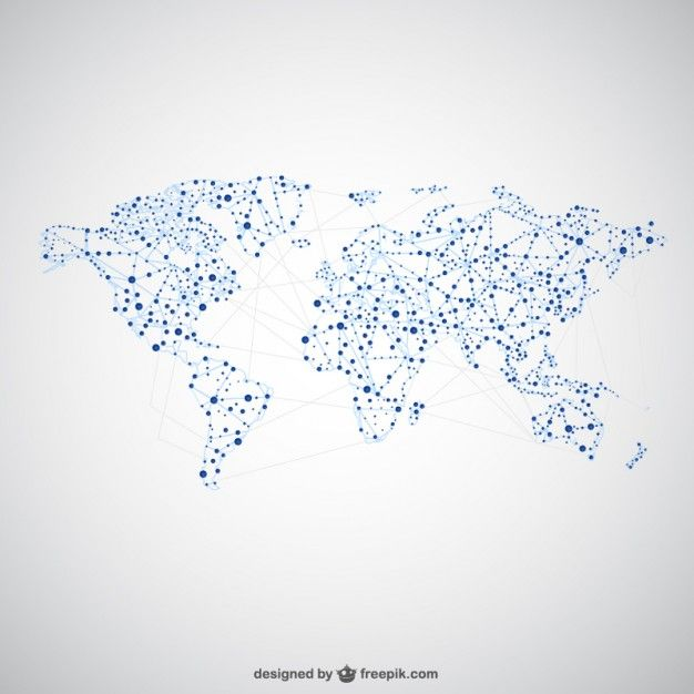 World map global network map design free vector icons world map global network map design free vector gumiabroncs Images