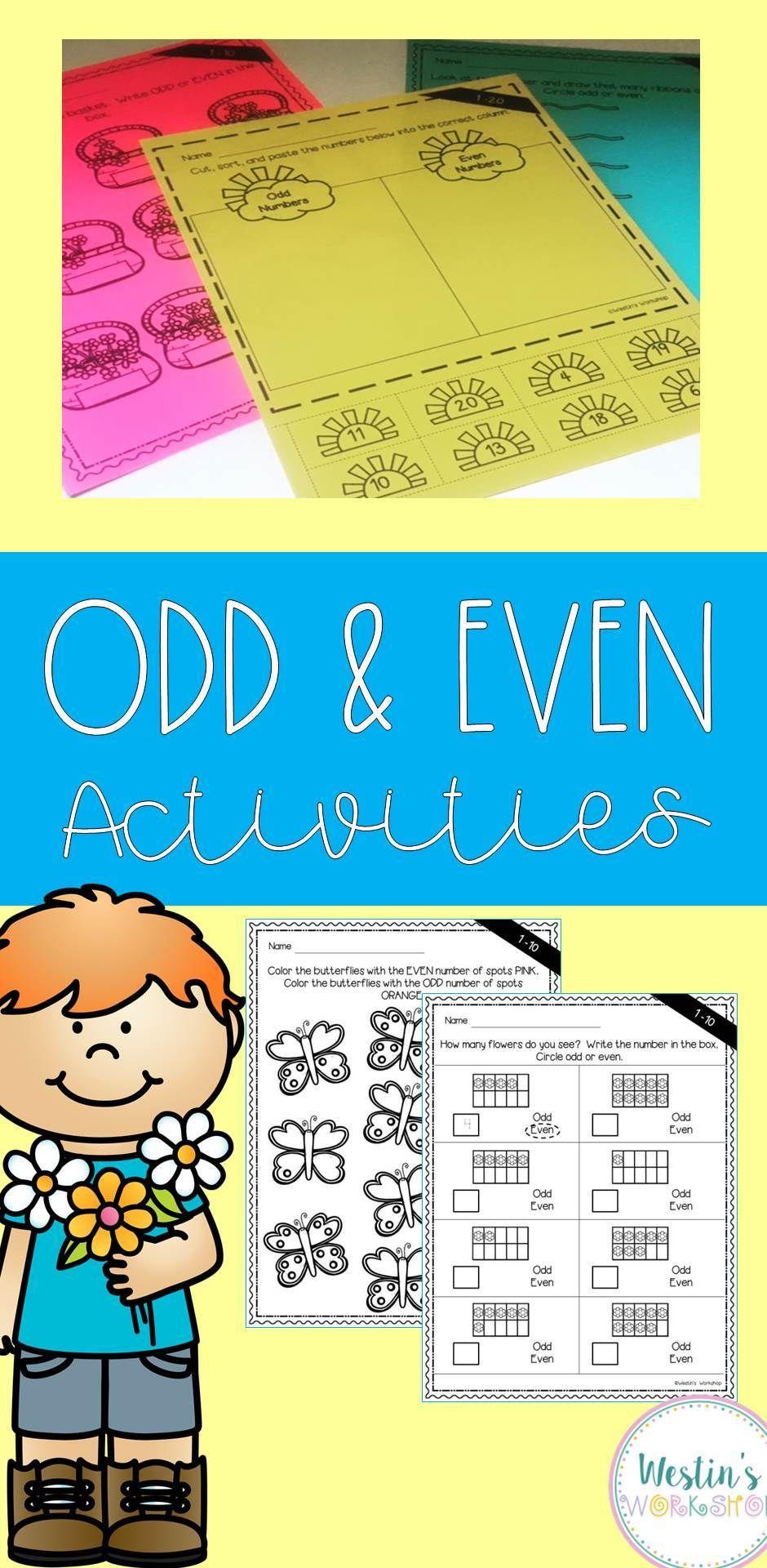 Odd & Even Number Activities | Number activities, Activities and Number