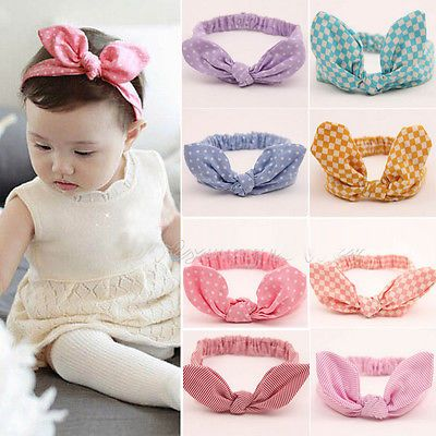 Kids Girls Hairband Baby Toddler Party Cute Bowknot Headband Hair Band Headwear