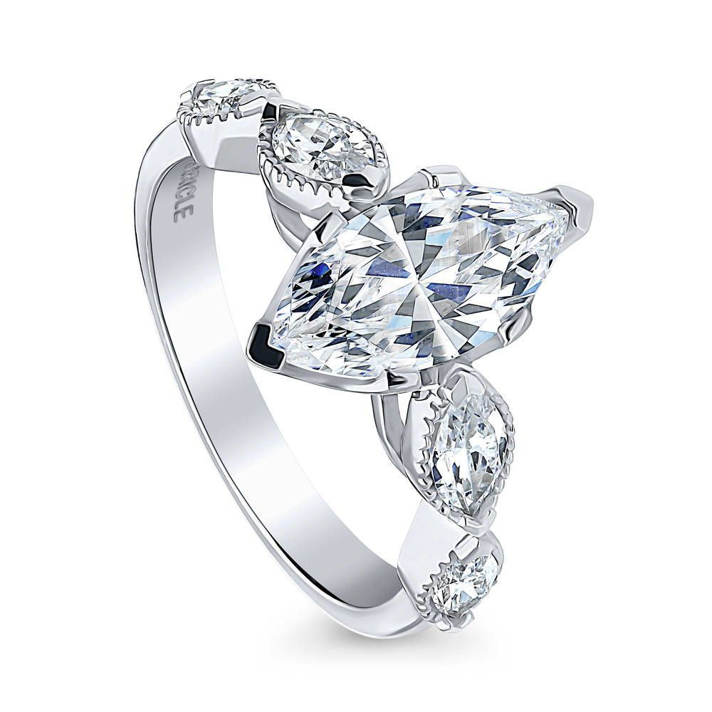 Black Diamond Circle Frame Cluster Earrings 1//4ct 925 Sterling Silver