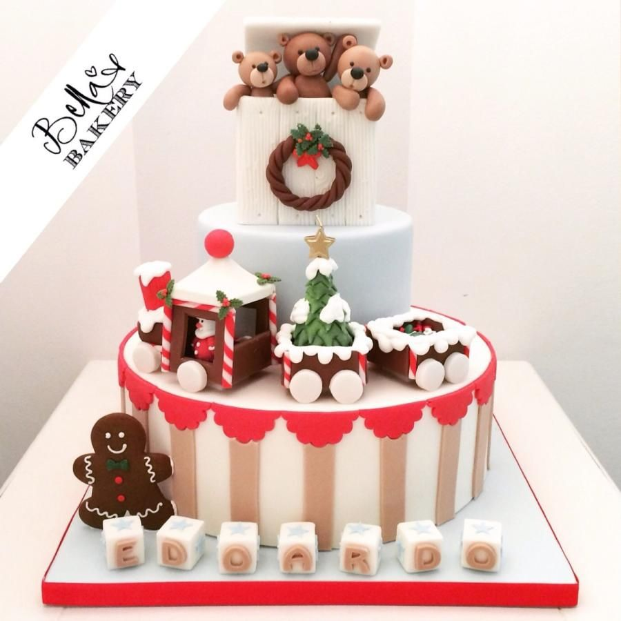Christmas Christening.A Christmas Christening Cake By Bella S Bakery Cakes