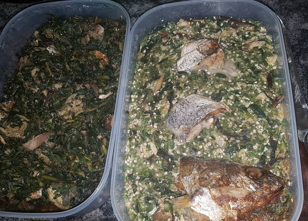 Just as the client requested! I love my soups oil-less and my okro with loads of veggies.