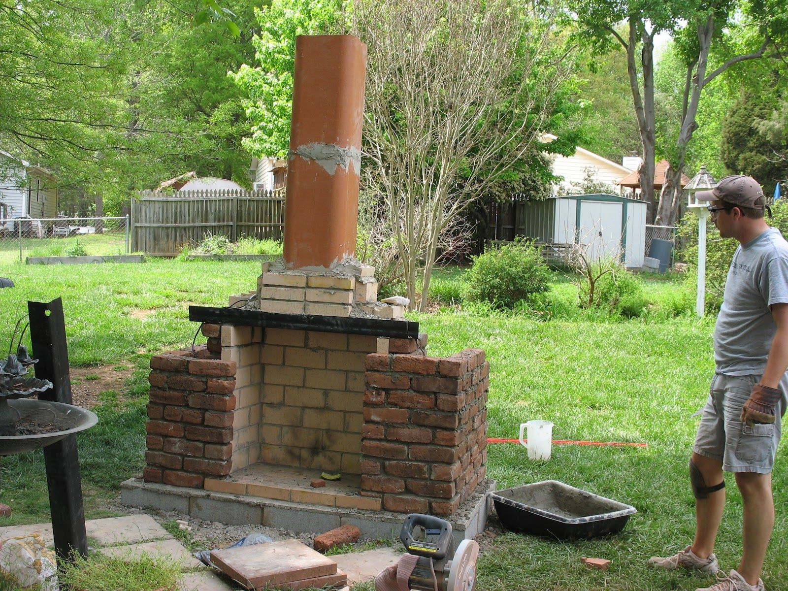 outdoor fireplace building plans for some reason this picture rh pinterest at