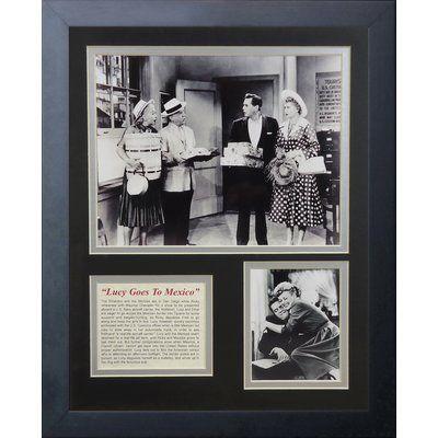 Legends Never Die I Love Lucy Framed Memorabilia