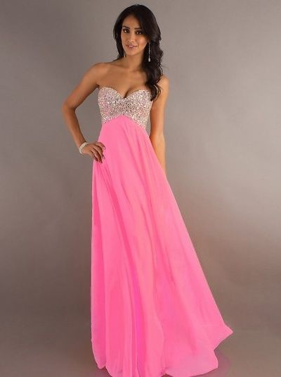 583037e57af 2014 Style A-line Sweetheart Rhinestone Sleeveless Floor-length Chiffon  Prom Dresses   Evening Dresses