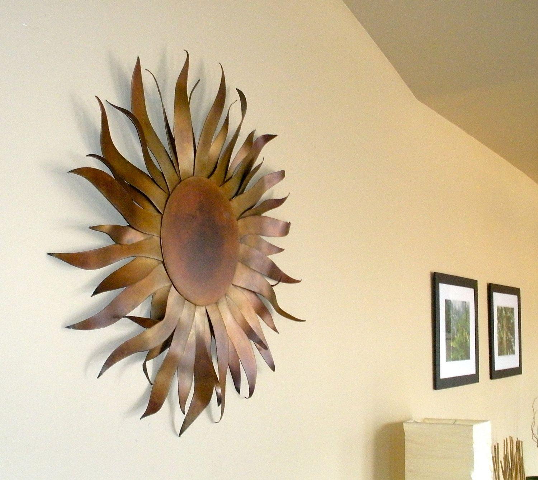Sun Sculpture - Metal Garden & Home Art With Copper Patina ...