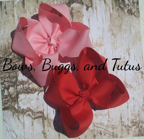 15 boutique bow 6 inch bows jumbo bow huge by BowsBuggsandTutus