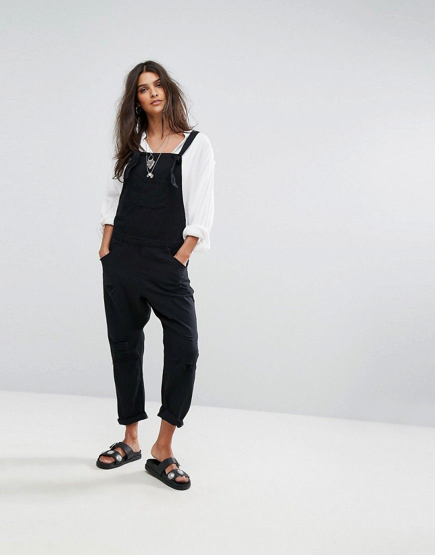 Good Prices great discount quality ONE TEASPOON OVERALLS WITH RIPS - BLACK. #oneteaspoon #cloth ...