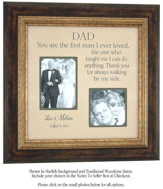 Father Of The Bride Gift Fathers Daughter Quote Dad Quote Thank