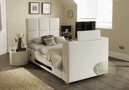 harvard iaudio white 3ft single tv bed free delivery installation tv beds tv beds. Black Bedroom Furniture Sets. Home Design Ideas
