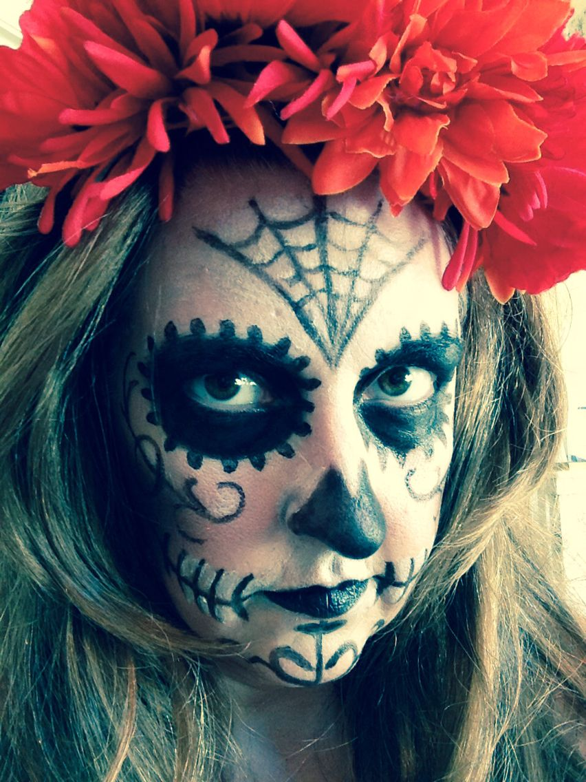 My first sugar skull makeup. Super easy and a fun unique