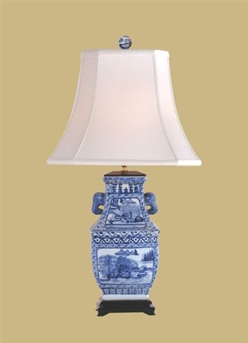 East enterprises lpjbw1015b east enterprise hand painted blue white vase lamp lpjbw1015b