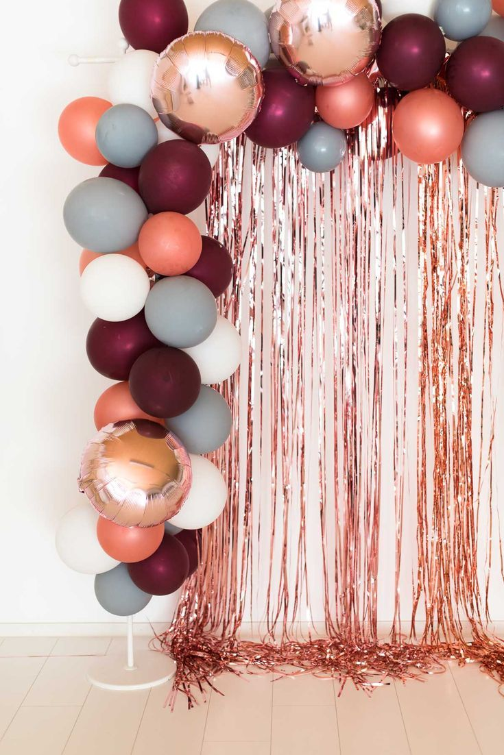 Photo of Ballongirlande berry-grey-rosegold – online bestellen Miss K. Says Yes Part …