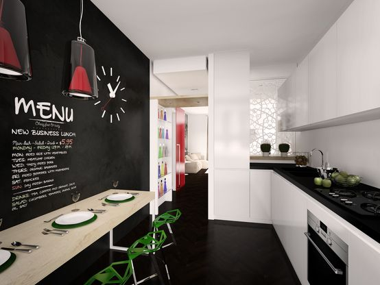 Homify parete cucina lavagna | Kitchen | Pinterest | Searching
