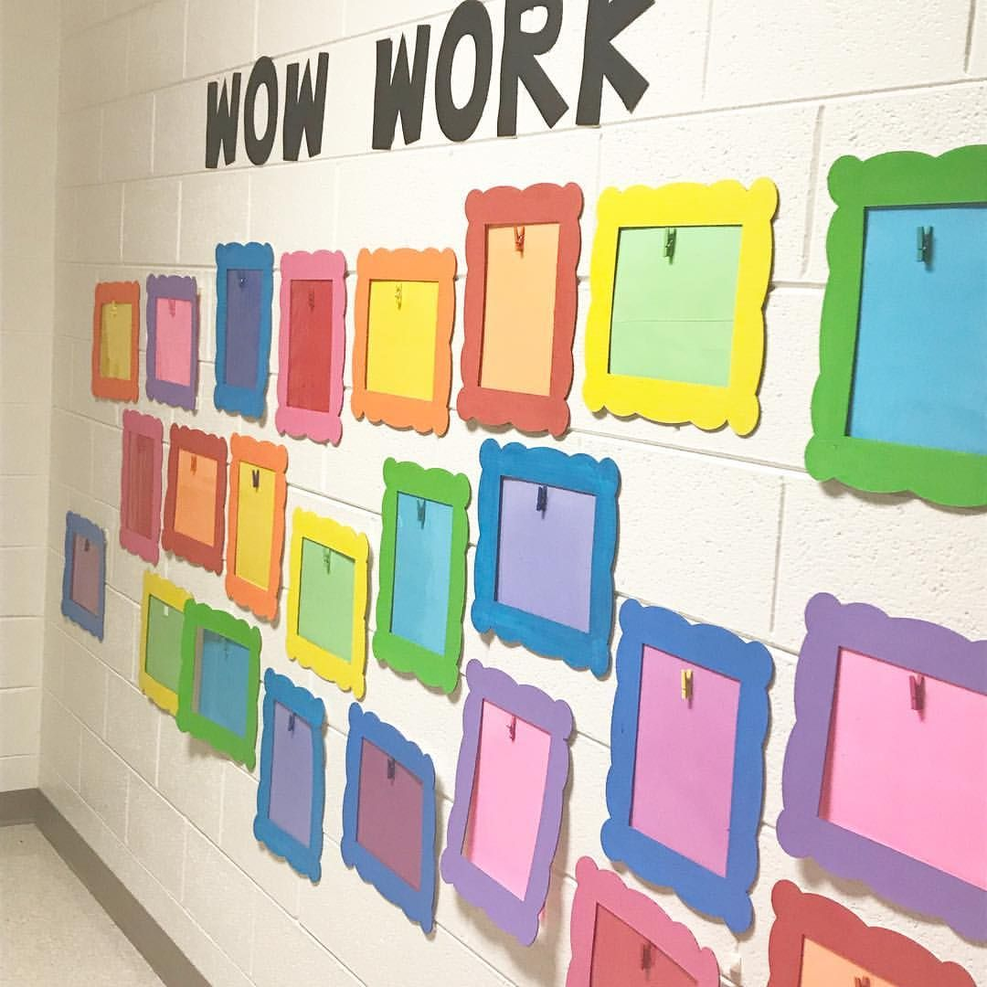 """KinderKids on Instagram: """"The wall is ready for a new batch or work this year!"""""""