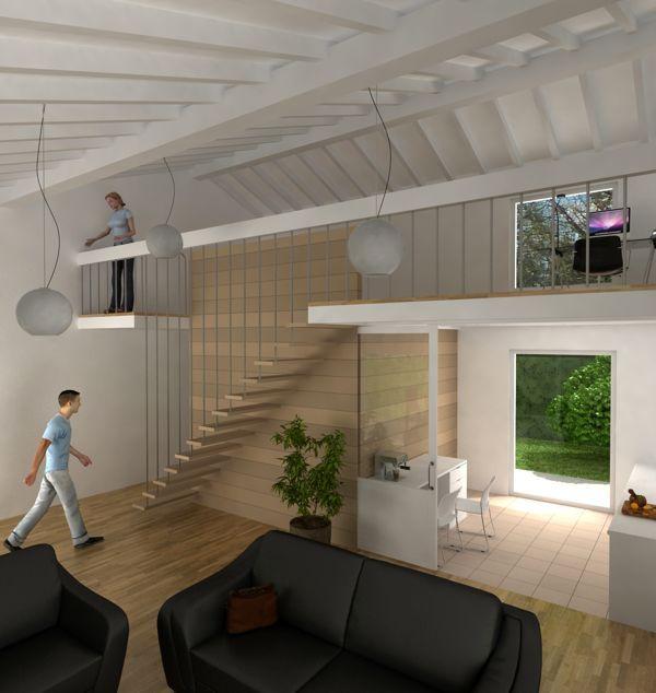Salon doble altura buscar con google casas pinterest - Salon doble altura ...