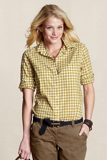 dark chartreuse gingham from Lands End canvas.Love this color! could really go into Fall