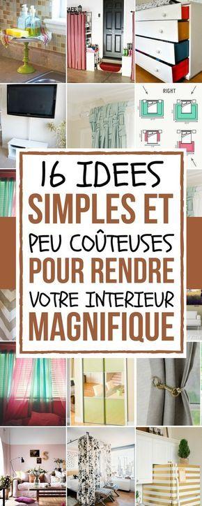 16 id es simples et peu co teuses pour rendre votre int rieur magnifique empreinte quelque. Black Bedroom Furniture Sets. Home Design Ideas