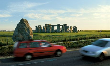 Stonehenge's time on a traffic island off the A344 ends