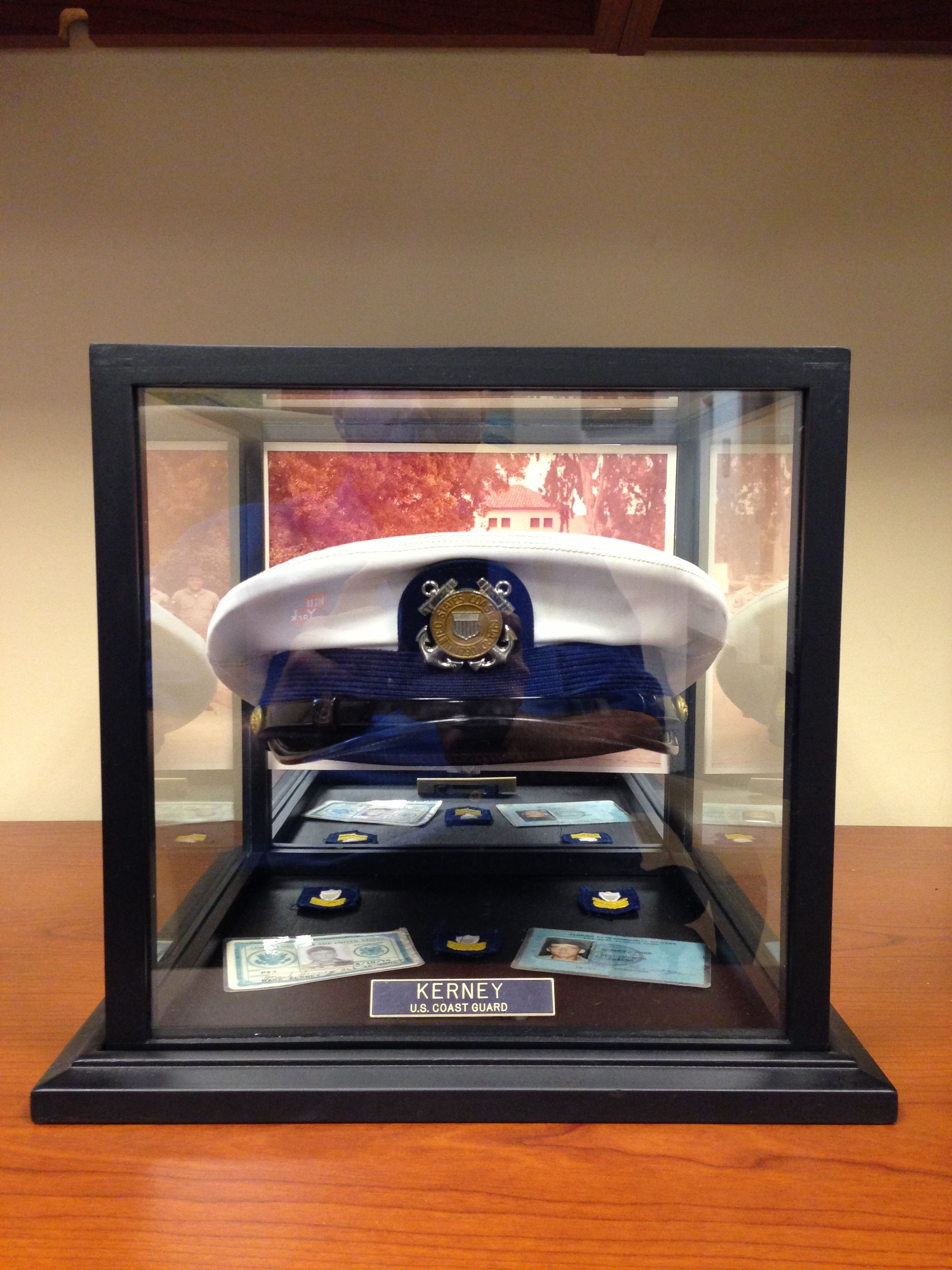 Crafts Kreations United States Coast Guard Hat Memory Box Www Kernelkreations Com Military Shadow Box Military Hat Box Shadow Box