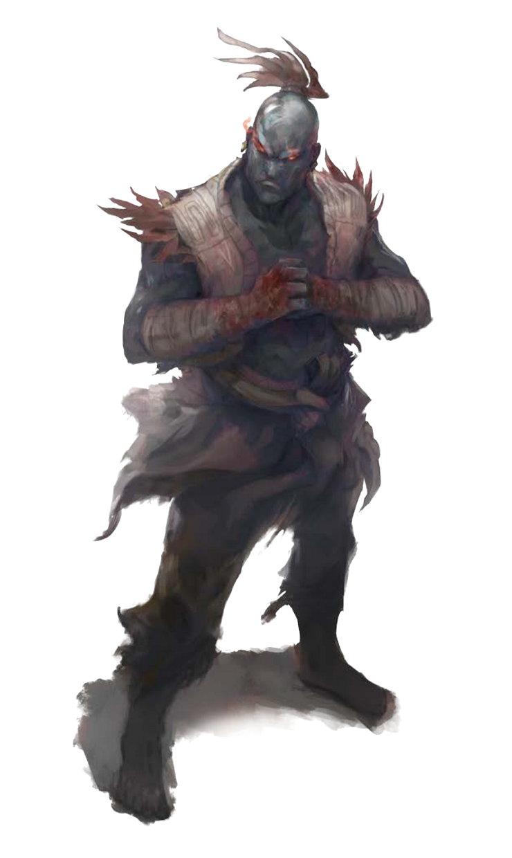 Male Shadow Giant Brawler - Pathfinder PFRPG DND D&D 3.5 5th ed ...