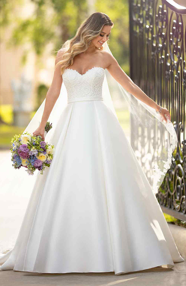 Stella York 6763 A Line Wedding Dress Boho Wedding Dress Ball Gown Wedding Dress