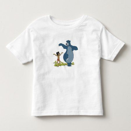Jungle Book Mowgli and Baloo dancing Disney Toddler T-shirt - click to get yours right now!