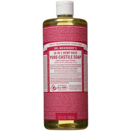 Dr  Bronner's 18-In-1 Hemp Rose Pure-Castile Soap, 32 0 FL
