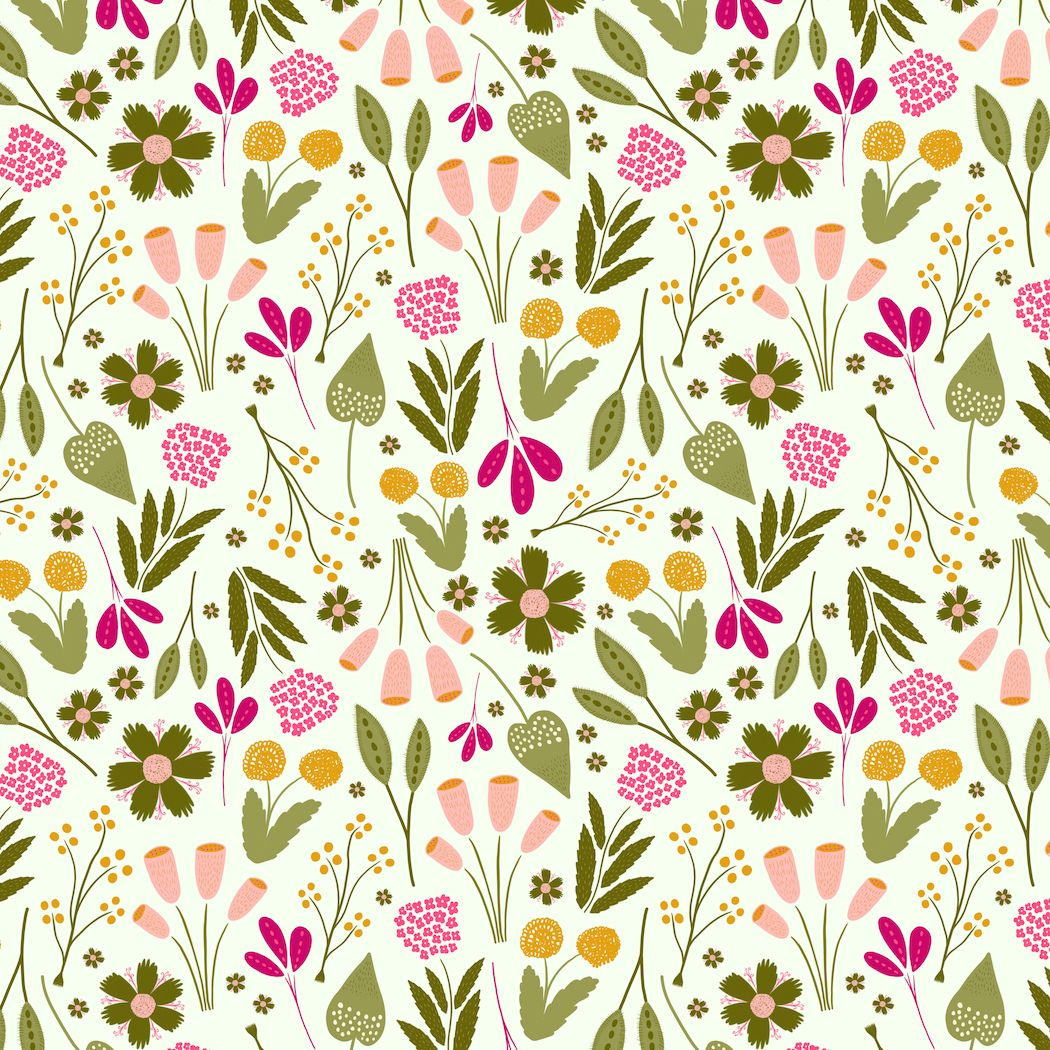 Ally Armstrong Smith On Instagram A Cheery Floral Repeat For The Aroma Garden Collection Nice Change Of Pace As Curre Surface Pattern Design Floral Drawings