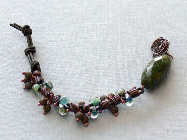 Along the creek , Misty woods, Branches (Lima Beads Design Gallery)