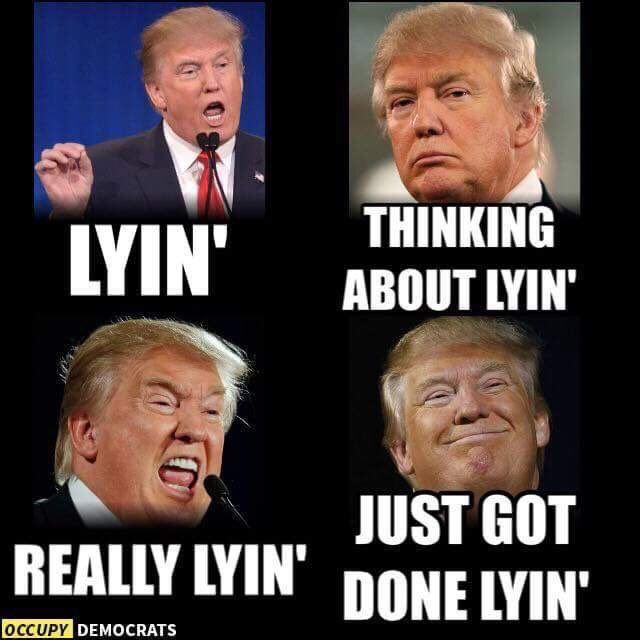 what did trump lie about today