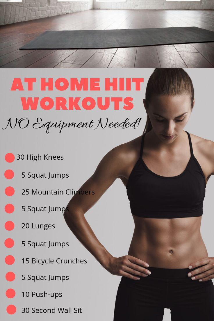 At Home Workouts With No Equipment