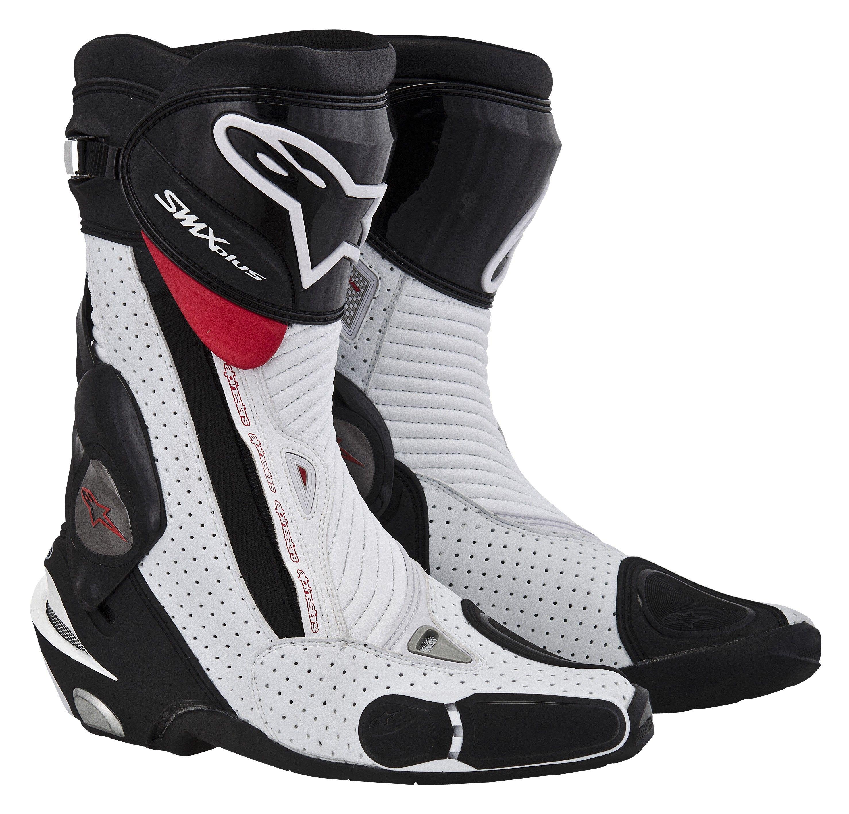 S Mx Plus Boot White Black Red Bike Boots