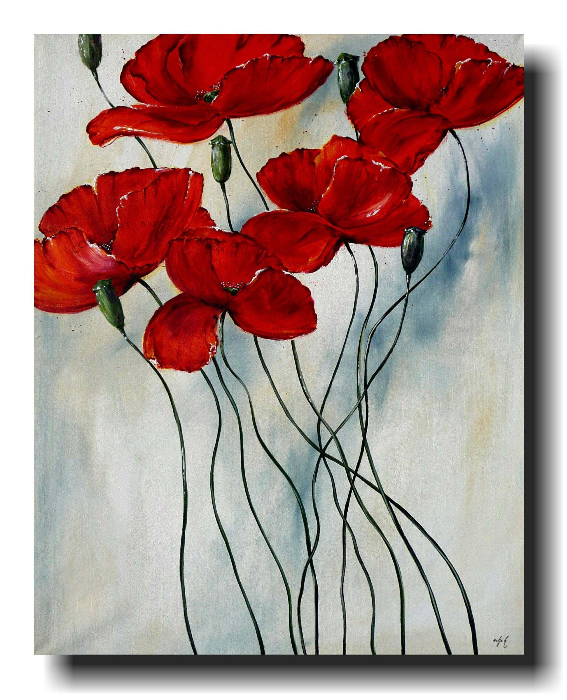 Eisblume Blumenbild Blumen Malerei Wandbild Blute Burgstaller
