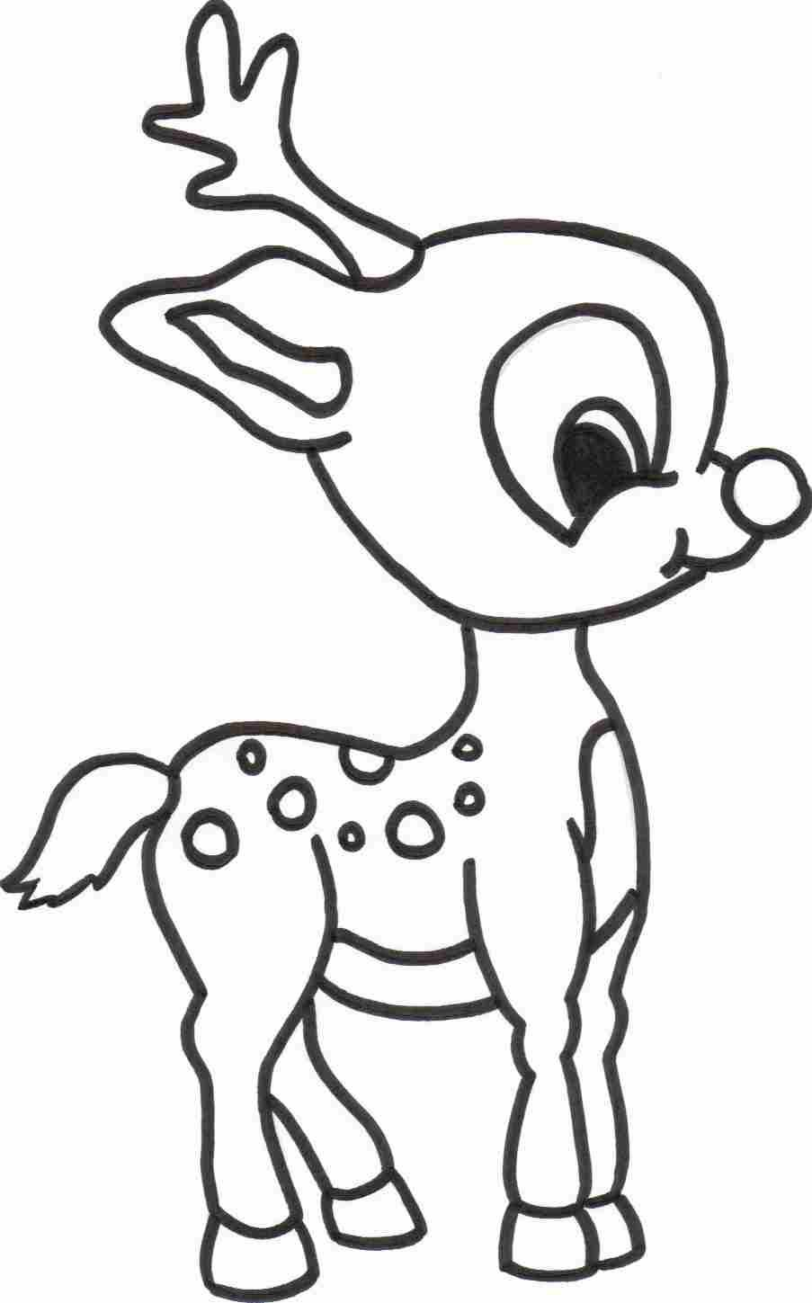 Free Printable Reindeer Coloring Pages For Kids Sketch Christmas
