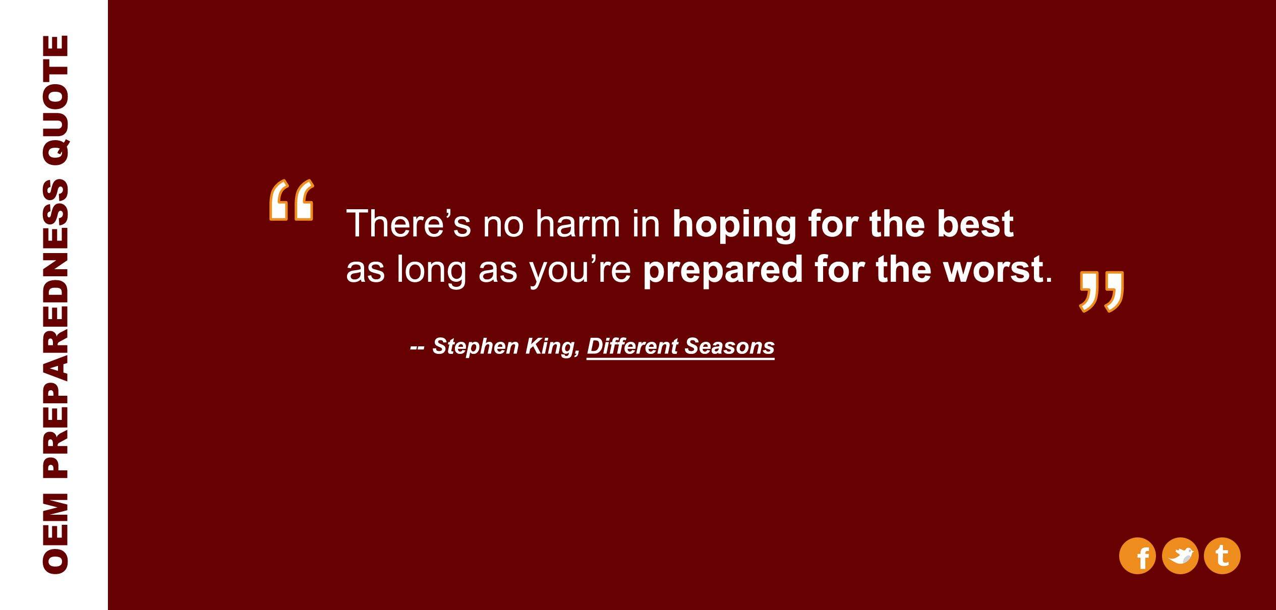 Quote From Stephen King In His Novel Different Seasons Manager