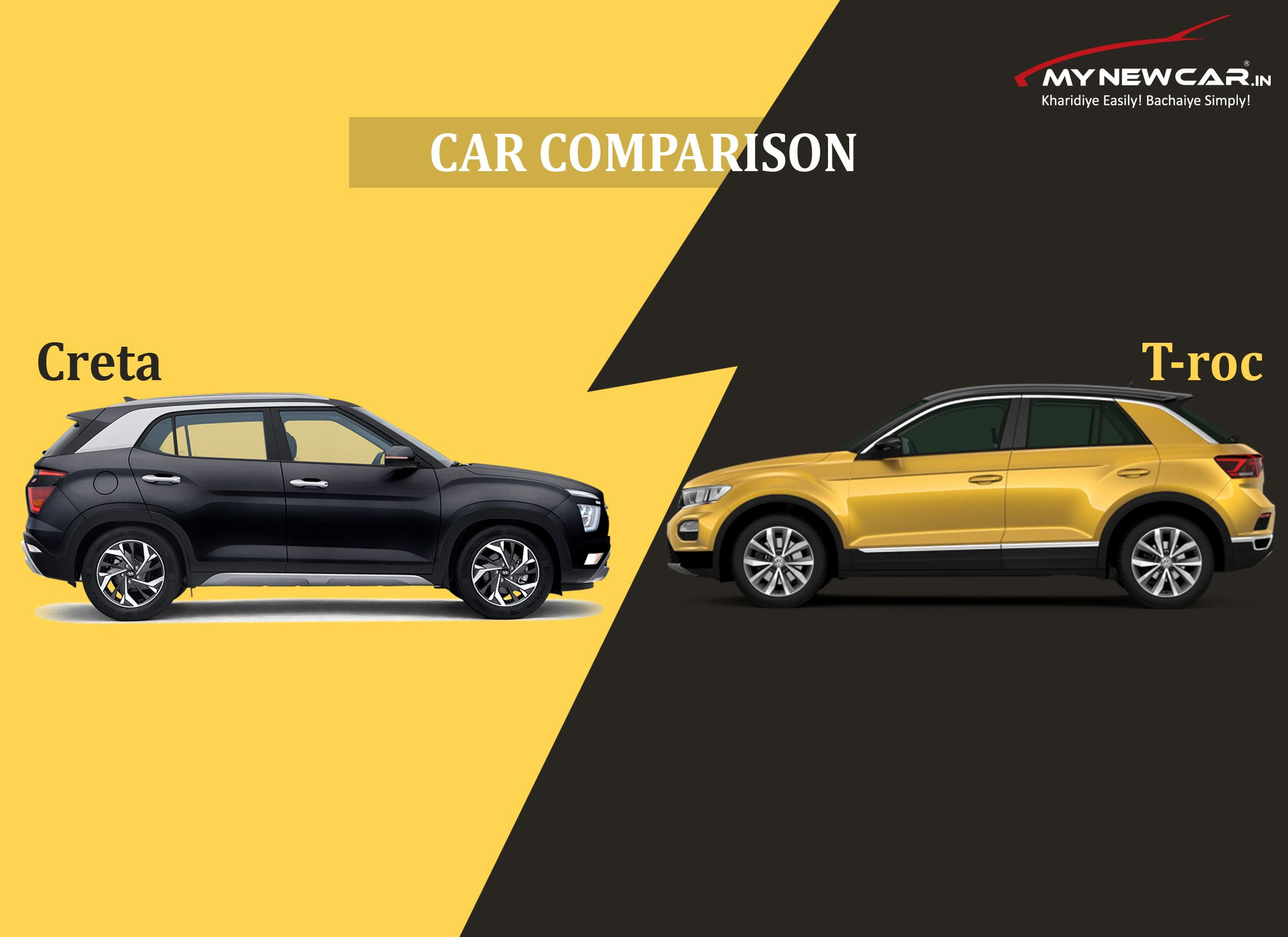 Car Comparison Creta Vs T Roc In 2020 New Hyundai Volkswagen Hyundai