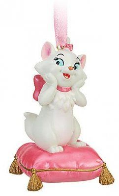 MARIE ~ THE ARISTOCATS: on pink pillow ornament (2010) from
