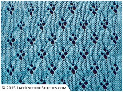 LACE KNITTING #16 | Quatrefoil Eyelet stitch. Easy! Great for baby blanket