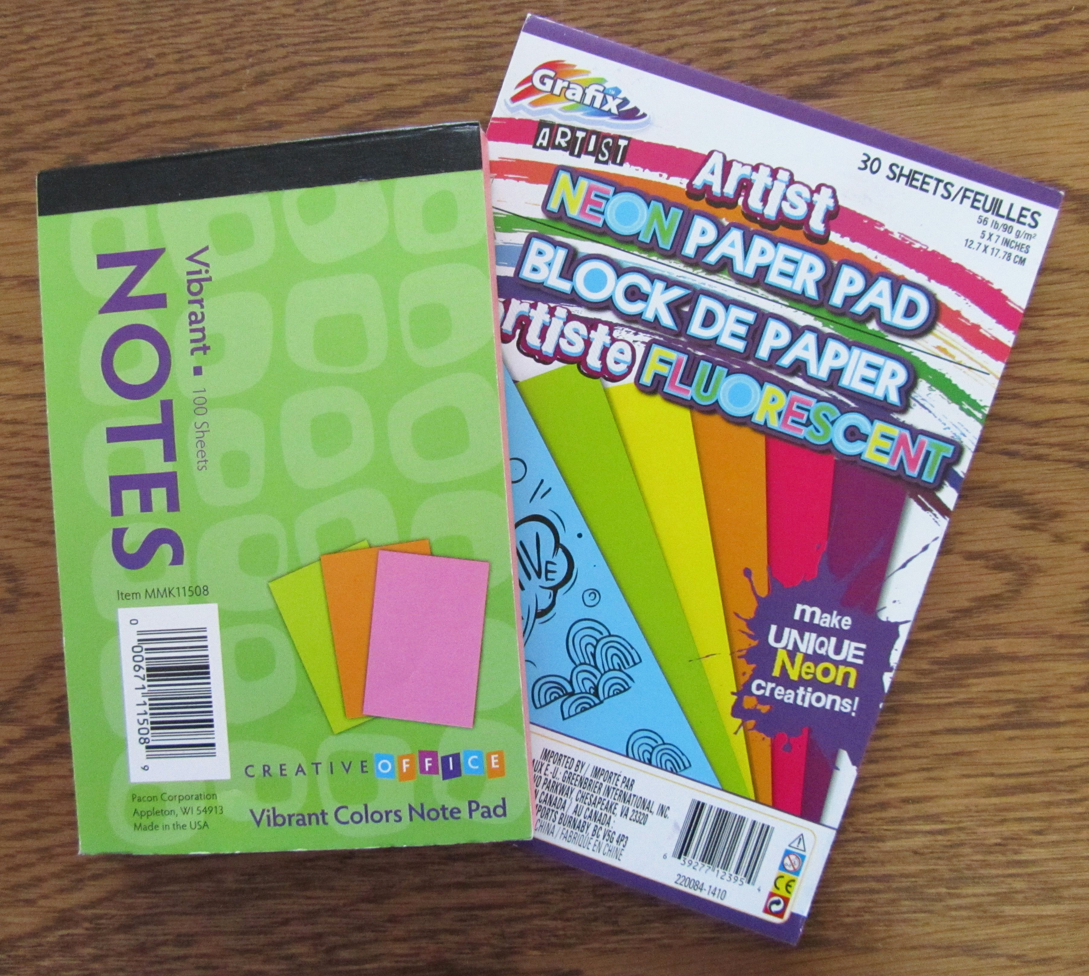 Colorful Notepads From Dollar Tree I Think The Girls Would Like These Operation Christmas Child Colorful Notepads Operation Christmas