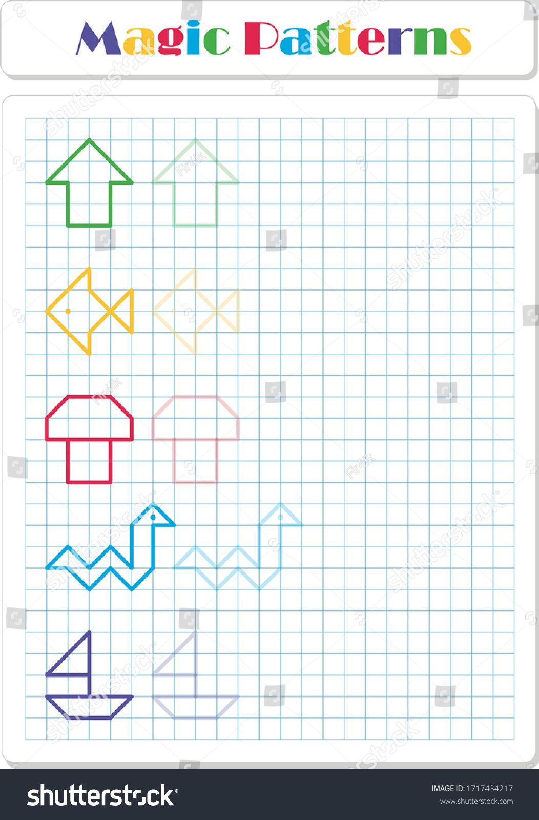 Continue The Pattern With Crayons Or Felt Tip Pens
