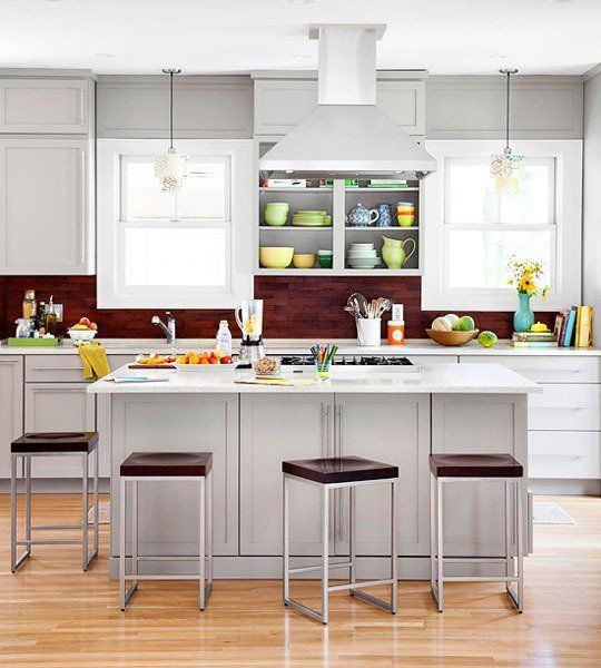 Paint Color Portfolio Pale Gray Kitchens Gray Kitchens Kitchens - Pale grey kitchen cabinets