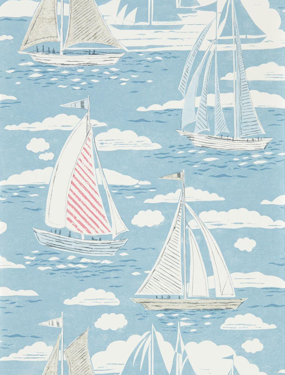 Sanderson Sailor Nautical Wallpaper main image