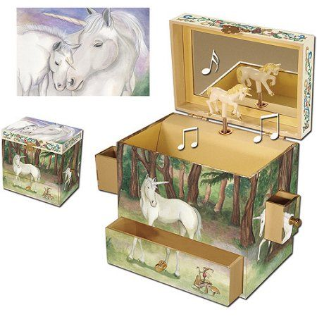 Horse Jewelry Box Enchantmints Unicorn Musical Jewelry Box Multicolor  Musical