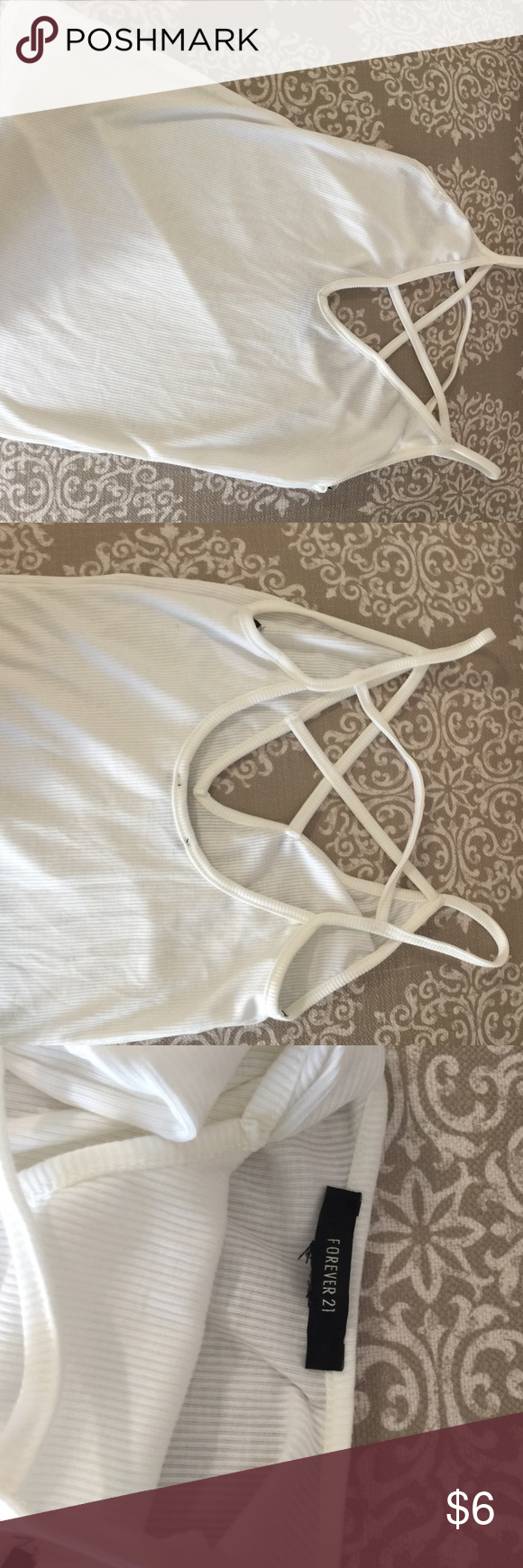 ❤️Strappy sexy cami tank Worn 3x. Great condition. Forever 21 Tops Tank Tops