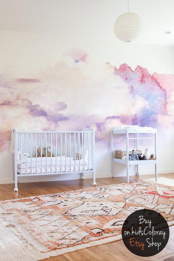 Simple DIY paint technique in a blue bedroom Paint Wall - küche tapezieren ideen