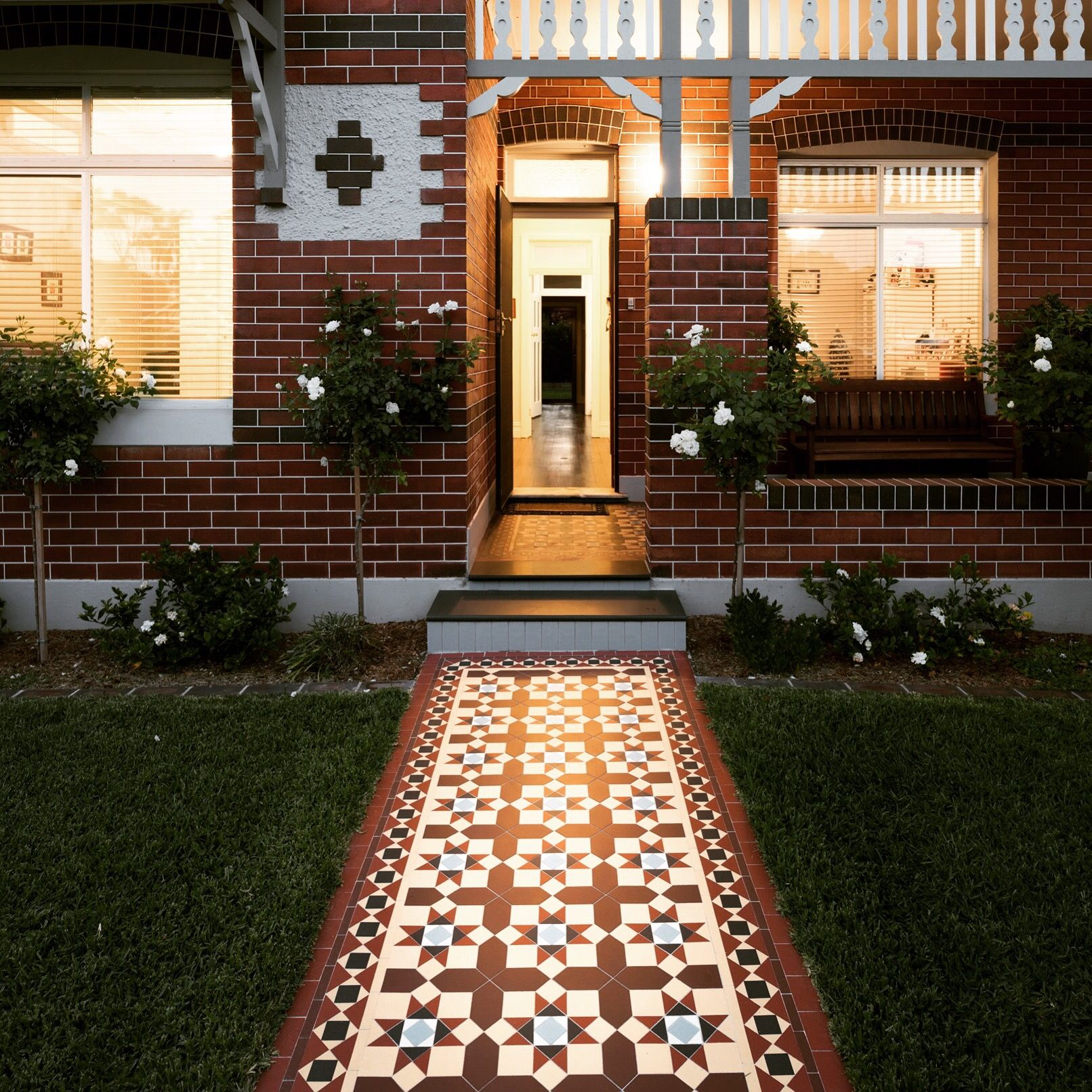 An elegant entrance to a perfectly preserved federation home a warm an elegant entrance to a perfectly preserved federation home a warm palette highlights the traditional dailygadgetfo Images